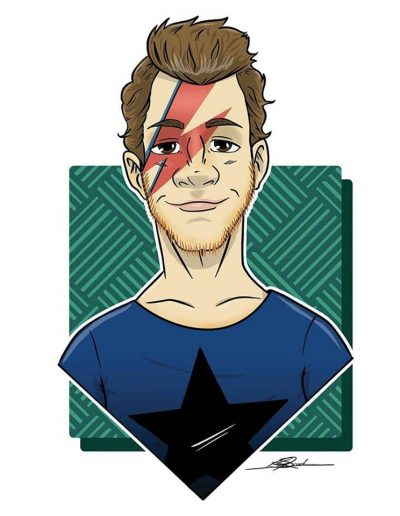 Caricature for a David Bowie Fan